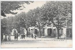DEP. 69 SAINTE-FOY-L'ARGENTIERE - LA PLACE ET LE BUREAU DE POSTE Bien Animée - France