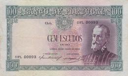 Portugal 100$00 -Pedro Nunes-22-6-1954 -usada Com Vincos - Portugal