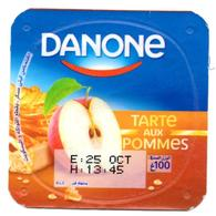 "Opercule Cover Yaourt Yogurt "" Danone "" Pomme Apple Apfel Manzana Yoghurt Yoghourt Yahourt Yogourt - Opercules De Lait"