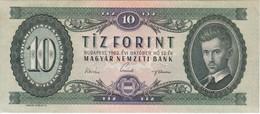 BILLETE DE HUNGRIA DE 10 FORINT DEL AÑO 1962 (BANKNOTE) - Hungría
