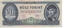 BILLETE DE HUNGRIA DE 20 FORINT DEL AÑO 1975 (BANKNOTE) - Hungría