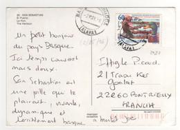 Beau Timbre , Stamp  Yvert N+ 2980 Sur Cp , Carte , Postcard Du 02/05/1996 Pour La France - 1991-00 Lettres