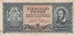 BILLETE DE HUNGRIA DE 10000000 PENGO DEL AÑO 1945 (BANKNOTE) - Hungría