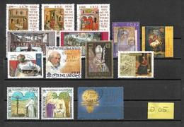 Vaticaan 14x EURO Stamps Used/gebruikt/oblitere(D-05) - Verzamelingen (zonder Album)