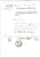Le Armate Francesi In Italia , Regno D'Italia, Isole Ionie,Corfù. Certificato Di Presenza Nel I° Battaglione 1811 - Manuscrits