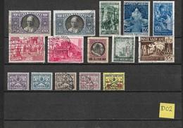 Vaticaan Lot With Better Values Used/gebruikt/oblitere(D-02)...cat.value Michel 40,00 EURO - Postzegels