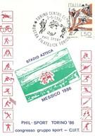 """1141"""" PHIL SPORT - TORINO '86 - CONGRESSO GRUPPO SPORT -C.I.F.T. """" 2 CARTOLINE POSTALI ORIG. NON SPEDITE - 6. 1946-.. Republic"""