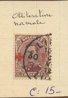 156 20c  154 Oblitéré  Cote 15,-E - 1918 Croix-Rouge