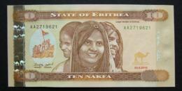 Eritrea 10 Nakfa 2012 FDS UNC - Erythrée