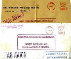 TCHAD EMA Secap SR 1976 1977 Pour La France 1 Lettre Et 2 Devants De La SR 6171 - Togo (1960-...)