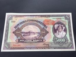 BOHEMIA MORAVIA R567 5000 KRONUR 1943  UNC - Banconote