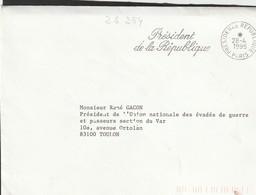 FLAMME  PRESIDENT DE LA REPUBLIQUE - Marcophilie (Lettres)