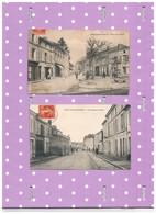 17 SAINT JEAN ANGELY X 2  PLACE DE LA LIBERTE  &  FAUBOURG AUNIS - Saint-Jean-d'Angely