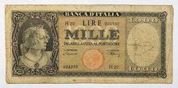 1000 LIRE ITALIA TESTINA 20 03 1947 Pressata Forellini Rara LOTTO 2316 - 1000 Lire