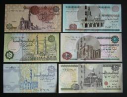 Egitto 1, 5, 10, 20 Puund + 25, 50 Piastre FDS UNC Piastres Egypt Egypte - Egitto