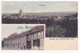 Gruss Aus Marlenheim - 2 Vues (Totalansicht, Gasthaus Josef Goujon, Friseurgeschäft Philipp Glock) Circ 1909 - France
