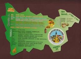 Calendrier DES MARCHES Dans Les VOSGES. 88 - Tous Les Marchés Et Foires Dans Les Vosges - 2 Scannes - Calendriers