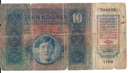 AUTRICHE 10 KRONEN 1915 VG P 19 - Oostenrijk