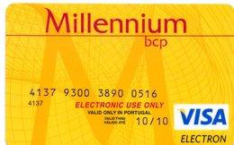 PORTUGAL -  CREDIT CARD MILLENNIUM VISA ELECTRON - Geldkarten (Ablauf Min. 10 Jahre)