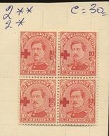156 10c  153  Neufs * Et ** Cote 30,-E - 1918 Croix-Rouge
