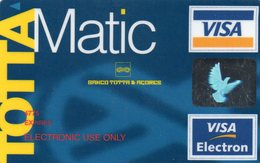 PORTUGAL -  CREDIT CARD BANCO TOTA & ACORES VISA ELECTRON - Geldkarten (Ablauf Min. 10 Jahre)