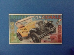1993 BIGLIETTO LOTTERIA NAZIONALE AUTO STORICHE - Loterijbiljetten