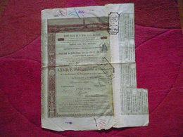 Italie / Italia :Titre De 5 Obligations  / Obbligazioni   Serie A / Societa Italiana Per Strade Ferrate Meridionali 1887 - Otros