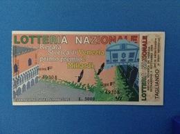 1993 BIGLIETTO LOTTERIA NAZIONALE REGATA STORICA DI VENEZIA - Billetes De Lotería