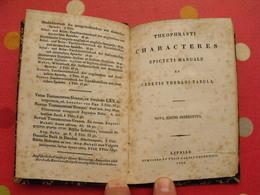 Theopraste Theophrasti Characteres. Lipsiae 1844; En Grec. Theophrast - Livres Anciens