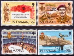 ISLE OF MAN 1981 SG 205-08 Compl.set Used Royal British Legion - Isle Of Man