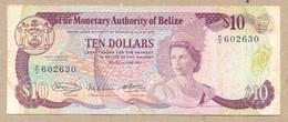 Belize 10 Dollars 1980 P40  F - VF - Belize