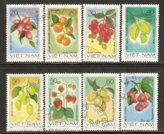 Vietnam 1981 Mi# 1179-1186 Used - Fruits - Vietnam
