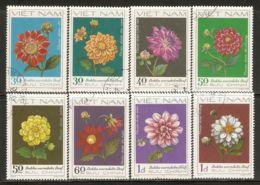 Vietnam 1982 Mi# 1240-1247 Used - Dahlias - Vietnam