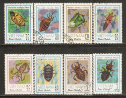 Vietnam 1982 Mi# 1258-1265 Used - Insects - Vietnam