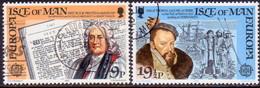 ISLE OF MAN 1982 SG 216-17 Compl.set Used Europa. Historic Events - Isle Of Man