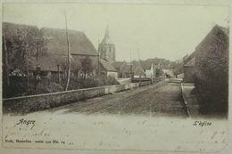 Angre L'Église (Coin Inf Droit Coupé) - Timbre Léopold II De Profil COB57 - Honnelles