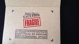FRAGILE  JEAN PAUL GAULTIER VAPO EAU DE PARFUM - Echantillons (tubes Sur Carte)