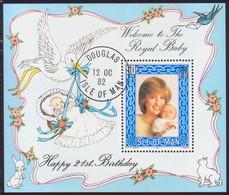 ISLE OF MAN 1982 SG MS 227 50p M/s Used 21st Birthday Of Princess Of Wales - Isle Of Man