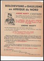 DEPLIANT   BOLCHEVISME   ET GAULLISME  EN AFRIQUE  DU NORD - Documents