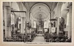 Montignies-sur-Roc Intérieur De L'Eglise - Honnelles