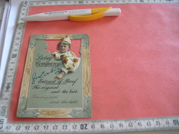 0542A   1 Trade Card : Liebig Nr 542A,  RRR,  Litho LEMCO, Die Cut Child RIGHT & Orange Balls, In A Window,  R3 C1897 - Liebig