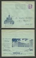 OISE - COMPIEGNE / Belle Enveloppe Pub Illustrée De La Ville / Recto Verso 1954 - Poststempel (Briefe)