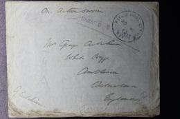 Palestine: 1918 Campaign El Qubeibe Against Ottoman Rule,  UK Fieldpost APO H 21 Hand Cancel Damaged By Water  RRR - Palästina