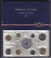 Francia France 1974 Serie Fleurs De Coins Monnaie De Paris  Fdc - Francia