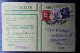 Palestine: 11-12-1940 Cover Fieldpost Office FPO 121  Jerusalem 3 Color Franking - Palestina