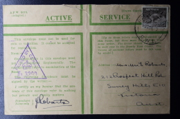Palestine: 22-12-1940  Cover Australian Imperial Forces Deir Seneia,  P/Mk. Railhead P.O. RW1 Australian Stamp - Palestine