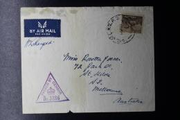 "Palestine: 1941  Cover ""KILO 89"" Field Post Office 1 Brigade Headquarters Palestine -> Melbourre Australian Stamp - Palestine"
