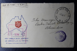 "Palestine: 1941  Cover ""KILO 89 ""  HQ  1st Australian Brigade  Field Post Office FPO 1st BGE  P.O. / MP.1 Salvation Army - Palestina"