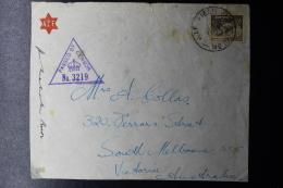 "Palestine: 1941  Cover Front  ""HILL69 ""  AIF   Field PO No 10  ACF  To Australia - Palestine"