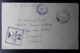 Palestine: 1942 Cover Sarafand  P/mk. No 121  RAF Censored - Palestine